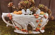 New Miniature Dollhouse Fairy Garden Birch Bark Tea Cup Planter