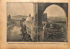 Édesse Ourfa Urfa Al-Ruha Şanlıurfa Abraham's Pool Monastère 1920 ILLUSTRATION