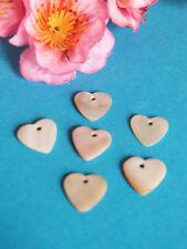 79B Superb Lot 6 Sequins Hearts Nacre Vintage Shell Iridescent Scrapbooking