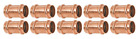 "(10 PCS) 3/4"" Propress Coupling (PxP) Copper Plumbing Fittings, Lead Free"