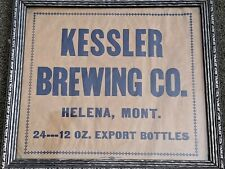 Kessler Brewing Beer Framed End Of Box? 24-12Oz. Export Bottles