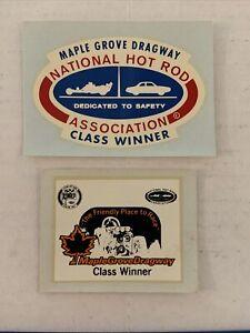 NHRA Maple Grove Dragway Pennsylvania Class Winner Sticker Decal Lot (2) #1