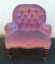 Antique Vintage Nursing Tub Chair