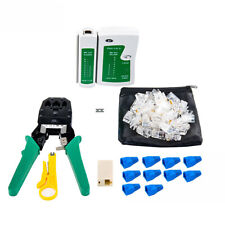 RJ45 RJ11 Cat5e Cat6 Network Lan Cable Tester Test Tool And RJ45 Net Clamp.Kit.