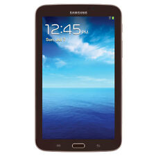 "Samsung Galaxy Tab 3 7"" Android WiFi Tablet Brown Dual Camera Bluetooth"
