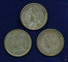NETHERLANDS  1917, 1918, & 1919   25 CENTS SILVER COINS