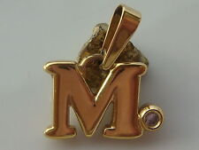 M - Pendant with Color Stone PLATED PIERRE LANG Pendant