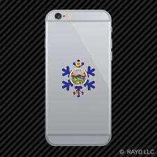 Kansas Snowflake Cell Phone Sticker Mobile KS snow flake snowboard skiing skii