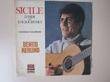 BENITO MERLINO ...SICILE D'HIER ET D'AUJOURD'HUI ..CHANSONS FOLKLORIQUES