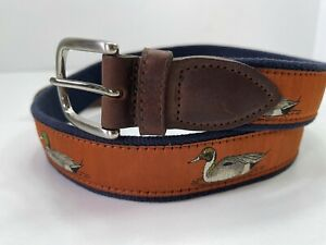 The Belted Cow Co Made In Maine Men's Size 38 Casual Duck Belt