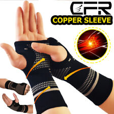 Copper Wrist Support Brace Compression Sleeve Arthritis Injury Fit Carpal Tunnel