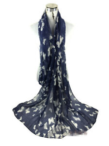 ELSA & ANNA® Viscose Butterfly Print Lady Scarf Wrap Shaw Stole Maxi Hijab SCF11