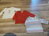 Baby boys NEXT 3 pack long sleeve Tshirts - First Size