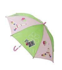 "Umbrella -""Paris"" - Children's - 24"" long  with pink handle"