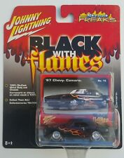 Johnny Lightning Street Freaks Black with Flames 1967 Chevy Camaro 1:64  #15