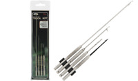 4 PC CARP FISHING NGT STAINLESS STEEL BAITING NEEDLES SET, HOOK, DRILL TOOLS