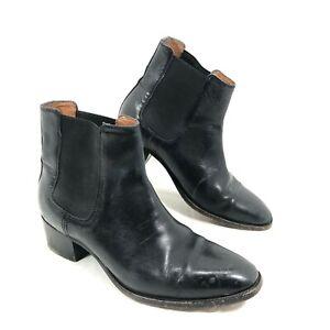 Women's Frye Chelsea Black Leather Boots Sz 6 B
