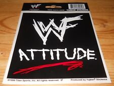 Vintage WWF Attitude Sticker Stickems From Yujean 1999 Free Shipping