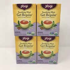 Yogi Soothing Mint Get Regular Tea Gentle Herbal Laxative Lot Of 4 Boxes 64 Bags