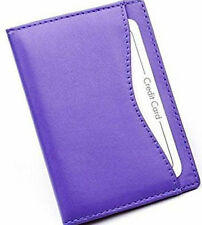 Purple Soft Nappa Leather Travel Buss Pass Oyster Card ID Holder Golunski TP1