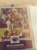 MILES SANDERS  gold AUTOGRAPH ROOKIE CARD  PENN STATE We are Penn State Rare