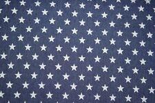 Blusenjeans Selena mit Sternen, dunkles denim blau , 0,25m*130 cm