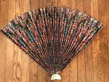 Vintage Lillian Vernon Flowered Paper Firepalace Fan