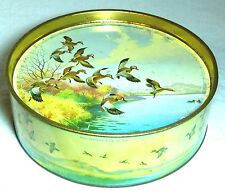 """VERY RARE VINTAGE KEARLEY&TONGUE BISCUIT TIN """"TEAL""""DUCKS C1930S LIFT OUT TRAY"""