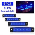 For navigation 4x Waterproof Blue Boat Marine Grade 12V Large LED Courtesy Light