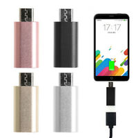 USB 3.1 USB-C Type C Female to Micro USB Male Data Adapter Converter Connector