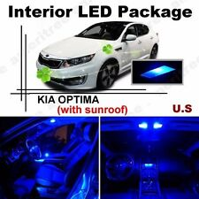 Blue LED Lights Interior Package Kit for Kia Optima w/ Sunroof 2011 & up 9Pcs