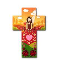 "†St. Thérèse Martin: 5.75"" Little Wall Cross – Catholic Devotion"