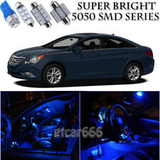 For Hyundai Sonata 2011-2013 Blue LED Interior + License Plate Light Kit 11PCS