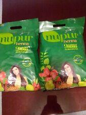 Nupur Henna Godrej 9 Herbs Natural Silky Shiny Hair 500g Powder Lot of 2 Bags