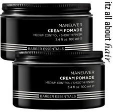 Redken BREWS Maneuver Cream Pomade 2 x 100ml Duo Pack All hair types RFM