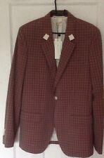 Marc Jacobs Pink Grey Checked Blazer Jacket EU 48, UK 38