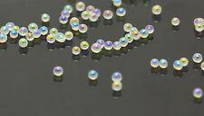 12g Glass Micro Beads No Hole 1.5mm -2mm Nail Art Caviar Marbles Microbeads J-23