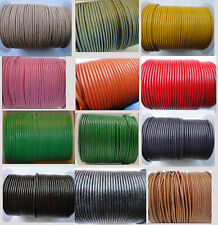 Real Round Leather Cord 2 mm String Lace Thong for Jewellery Necklace Genuine