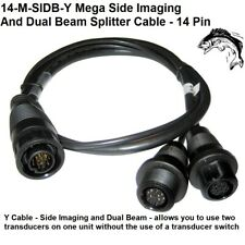 Humminbird 14-M-Sidb-Y Mega Side Imaging and Dual Beam Splitter Cable - 14 Pin