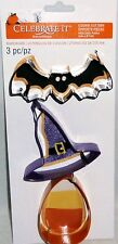 HALLOWEEN COOKIE CUTTER SET   Bat,Witches Hat,Candy Corn