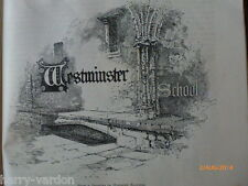 Westminster School  Old Antique Victorian Engravings Waterlow & Son Article 1887