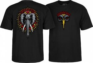 Mike Vallely Powell Peralta Elephant World T-Shirt Black Skateboard S M L XL XXL