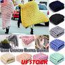 Soft Warm Hand Chunky Knitted Merino Wool Blanket Sofa Thick Yarn Bulky Throw US
