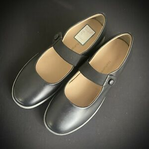 NATURALIZER Natural Sport BLACK LEATHER MARY JANE Flats Shoes Size 6.5 New / Box
