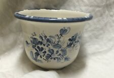 Pottery pot ceramic blue white floral Germany planting flowers