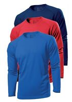 Hanes 7710 Cool-DRI Plain Polyester Long Sleeve Sports T-Shirt No Logo S-3XL