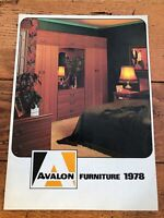 avalon furniture brochure from 1978