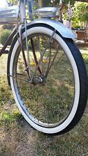 Cream white wall U.S. Royal Chain tread tires, Pair, New, Prewar Postwar 26""