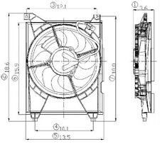 Global Parts Distributors 2811408 Radiator Fan Assembly