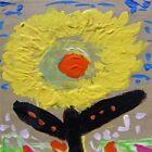Original FLOWER Naive FOLK Outsider SELF TAUGHT Mary Carol art MCW Primitive